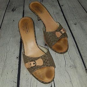 COACH sandals, sz 8